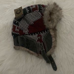 Unisex faux fur winter hat. New with tags!